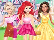 Princesses Different Shoulder Dress