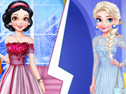 Snow White Vs Elsa Brunette Vs Blonde