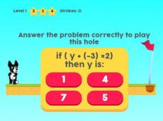 MathPup Golf 4 Algebra